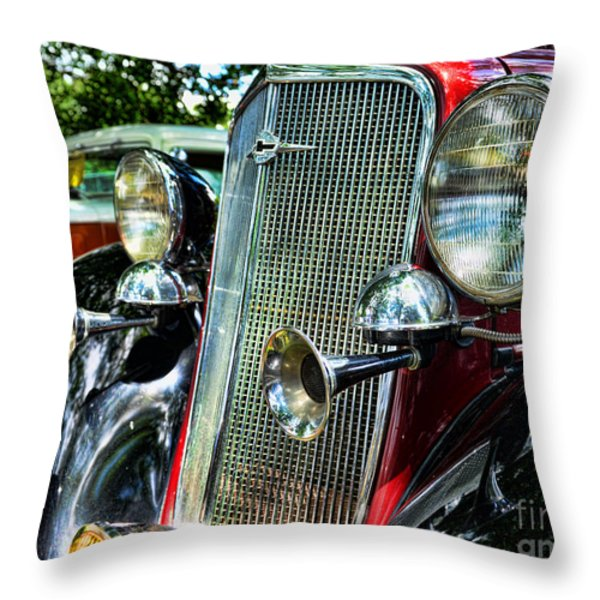 1934 Chevrolet Head Lights Throw Pillow by Paul Ward