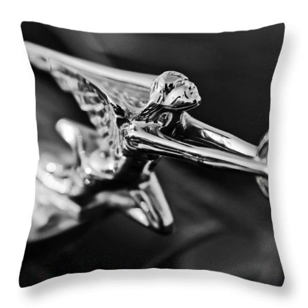 1934 Packard Hood Ornament 2 Throw Pillow by Jill Reger