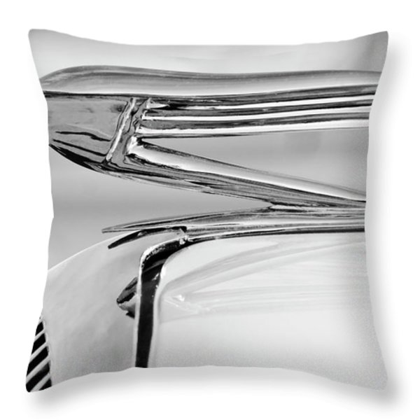 1936 Buick 40 Series Hood Ornament 2 Throw Pillow by Jill Reger