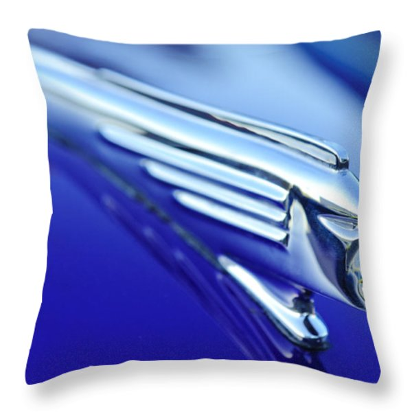 1939 Pontiac Coupe Hood Ornament 4 Throw Pillow by Jill Reger