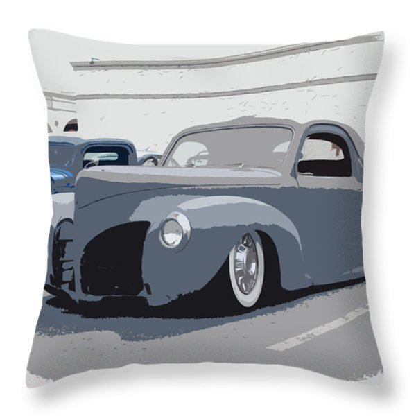 1940 Lincoln Throw Pillow by Steve McKinzie