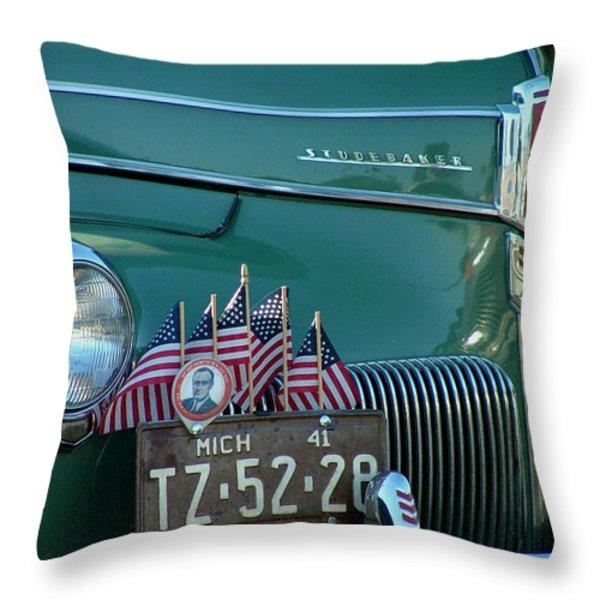 1941 Studebaker Throw Pillow by Dennis Pintoski
