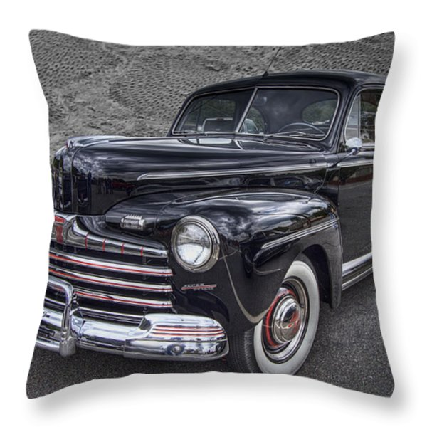 1946 Ford Throw Pillow by Debra and Dave Vanderlaan