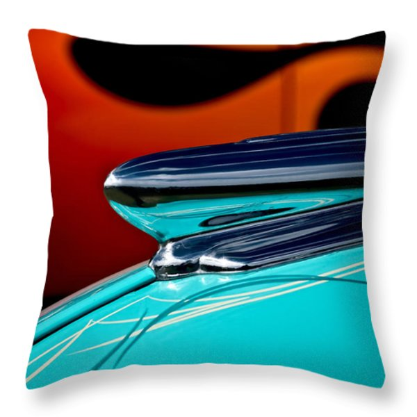 1948 Chevy Hood Ornament Throw Pillow by Douglas Pittman