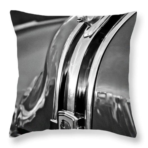 1948 Pontiac Chief Hood Ornament 4 Throw Pillow by Jill Reger