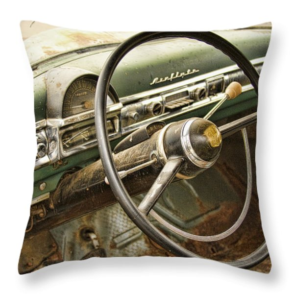 1951 Nash Ambassador Interior Throw Pillow by James BO  Insogna