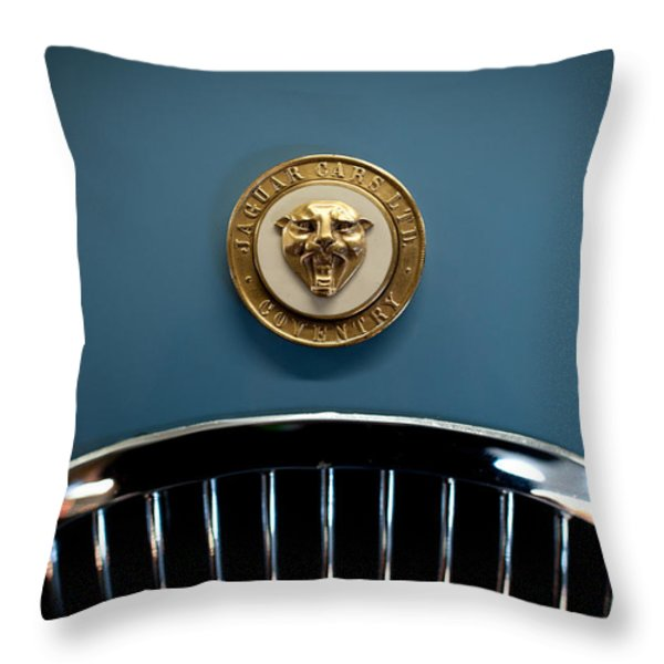 1952 Jaguar Hood Ornament Throw Pillow by Sebastian Musial