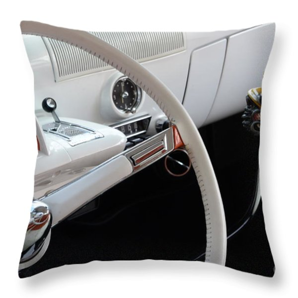 1952 Mercury Interior Throw Pillow by Bob Christopher