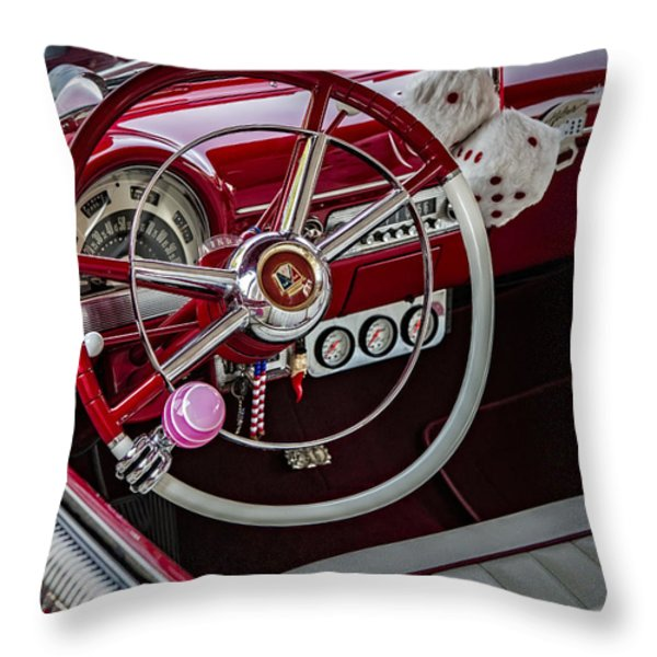 1953 Ford Crestline Victoria Throw Pillow by Susan Candelario