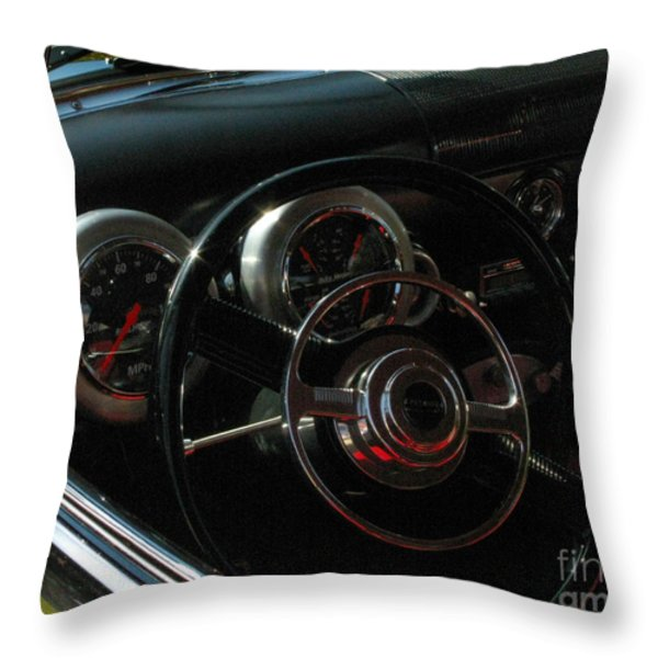 1953 Mercury Monterey Dash Throw Pillow by Peter Piatt