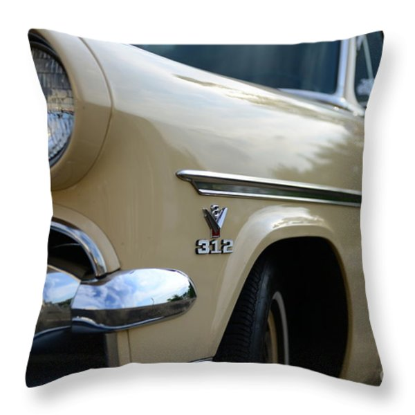 1954 Ford Customline Front End Throw Pillow by Paul Ward