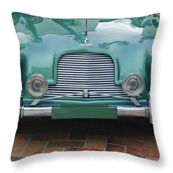 1955 Aston Martin Throw Pillow by Jill Reger