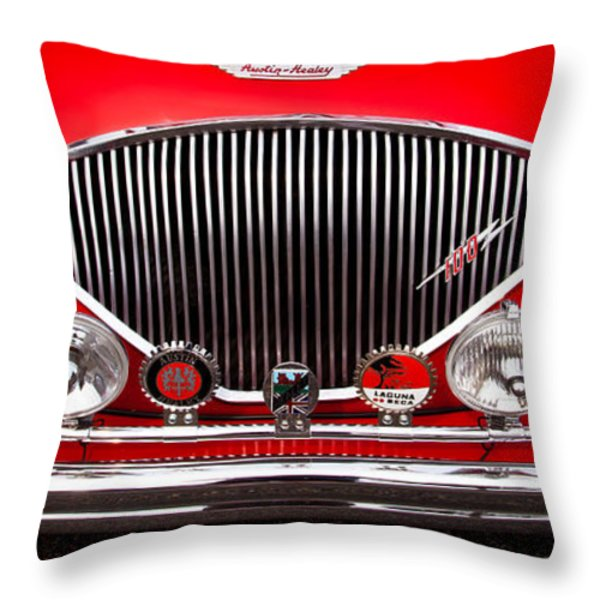 1955 Austin Healey 100-4 Throw Pillow by David Patterson