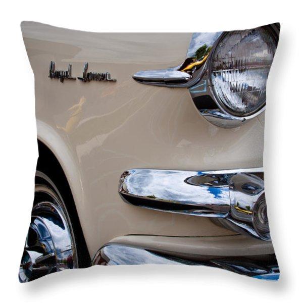 1955 Dodge Royal Lancer Sedan Throw Pillow by David Patterson
