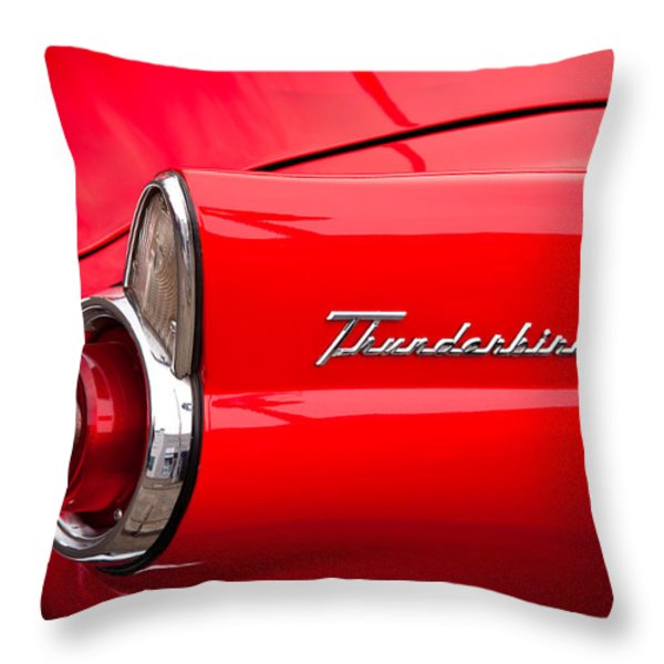 1955 Ford Thunderbird Throw Pillow by David Patterson
