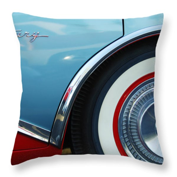 1956 Buick Century Wheel Throw Pillow by Jill Reger