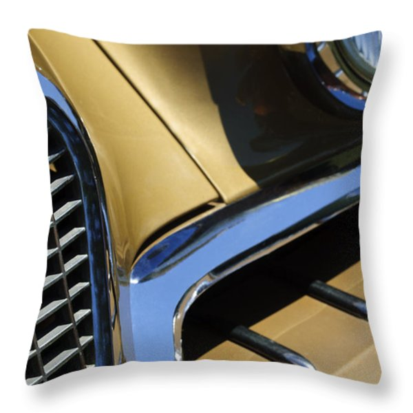 1957 Studebaker Golden Hawk Hardtop Grille Emblem Throw Pillow by Jill Reger