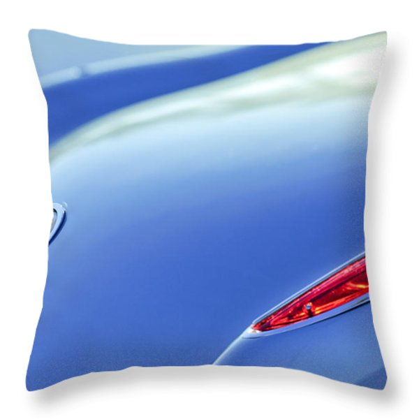 1959 Chevrolet Corvette Taillight Emblem Throw Pillow by Jill Reger