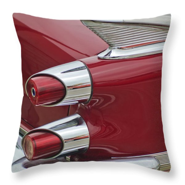 1959 Dodge Custom Royal Super D 500 Taillight Throw Pillow by Jill Reger