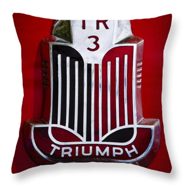 1960 Triumph Tr3a Throw Pillow by David Patterson