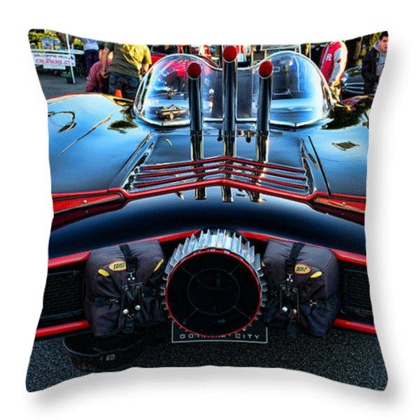1960s Batmobile - 1 Throw Pillow by Paul Ward
