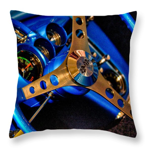 1961 Chevy Corvette Throw Pillow by David Patterson