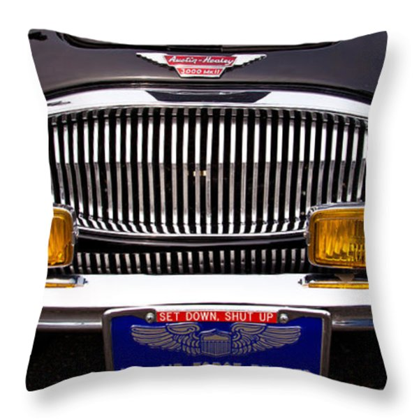 1962 Austin Healey 3000 Mkii Throw Pillow by David Patterson