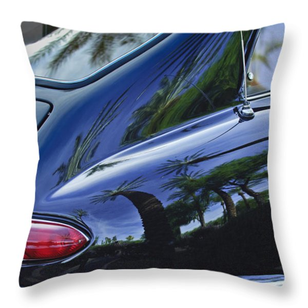 1963 Apollo Taillight Throw Pillow by Jill Reger