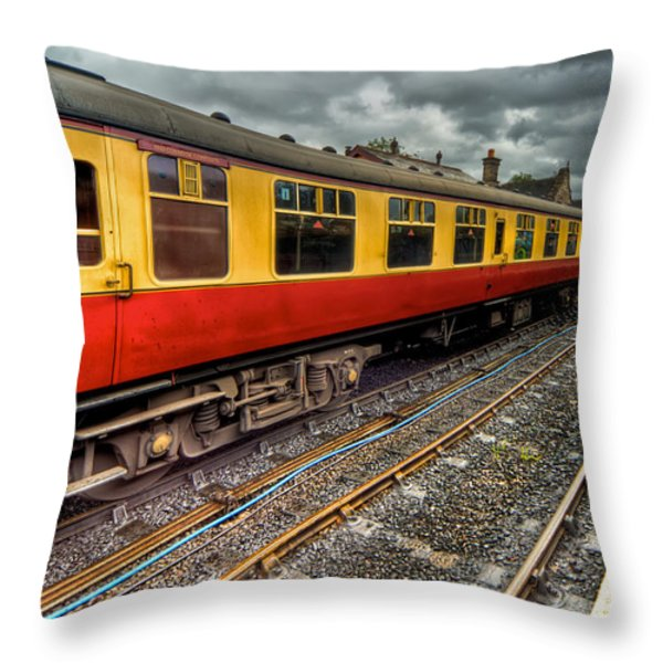 1963 Carriage  Throw Pillow by Adrian Evans