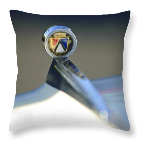 1963 Ford Futura Hood Ornament Throw Pillow by Jill Reger
