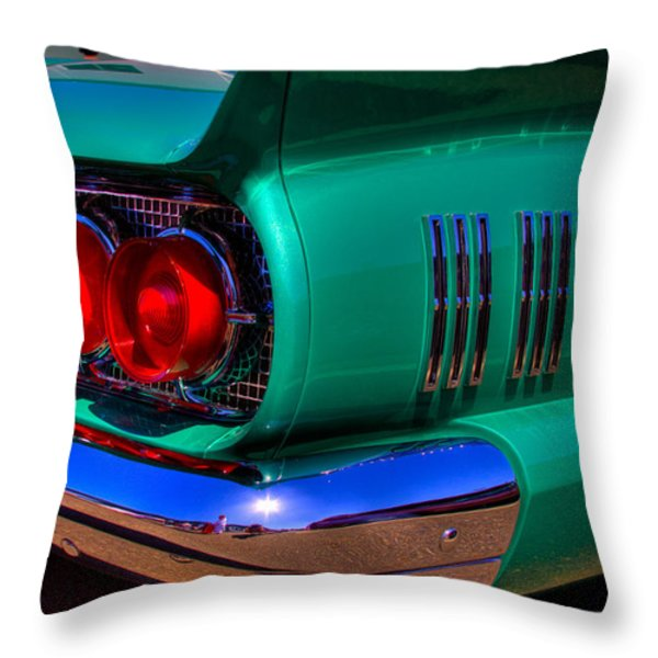 1966 Ford Thunderbird Throw Pillow by David Patterson