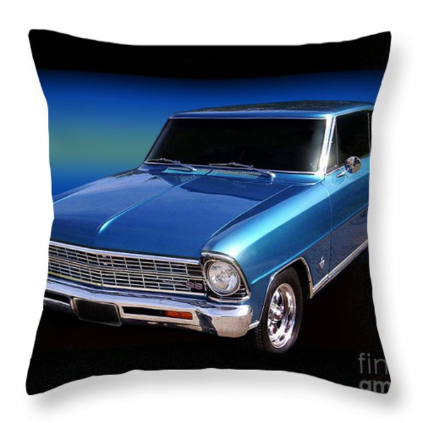 1967 Nova Ss Throw Pillow by Peter Piatt