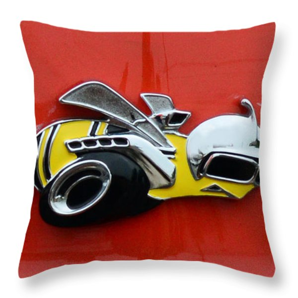 1970 Dodge Super Bee Emblem Throw Pillow by Paul Ward