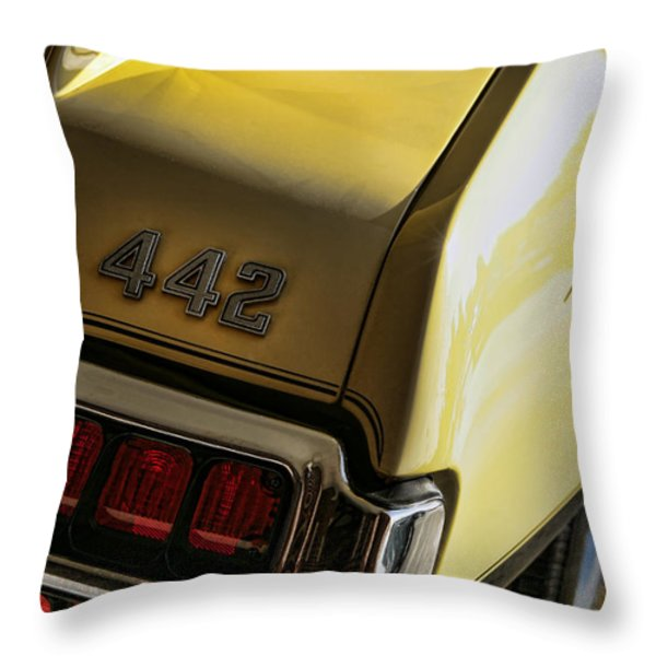 1972 Oldsmobile 442 Throw Pillow by Gordon Dean II