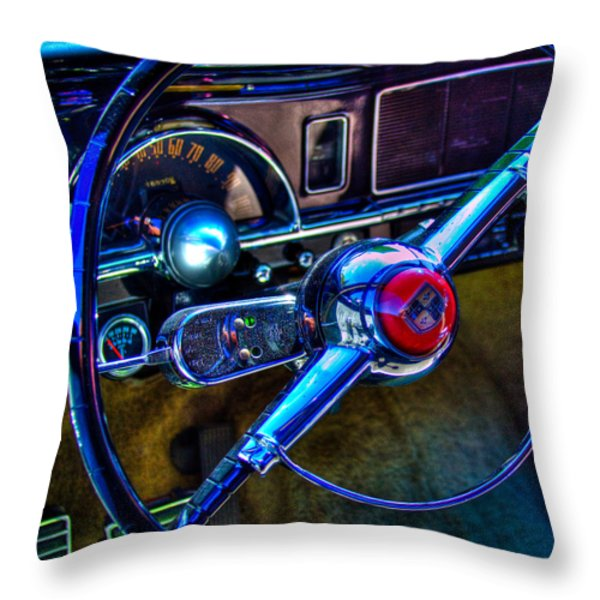 1950 Studebaker Champion Throw Pillow by David Patterson