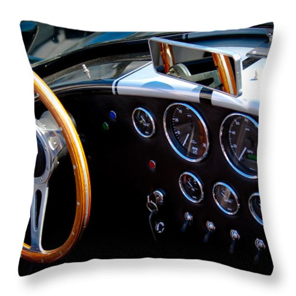 1966 Ford Ac Shelby Cobra 427 Throw Pillow by David Patterson