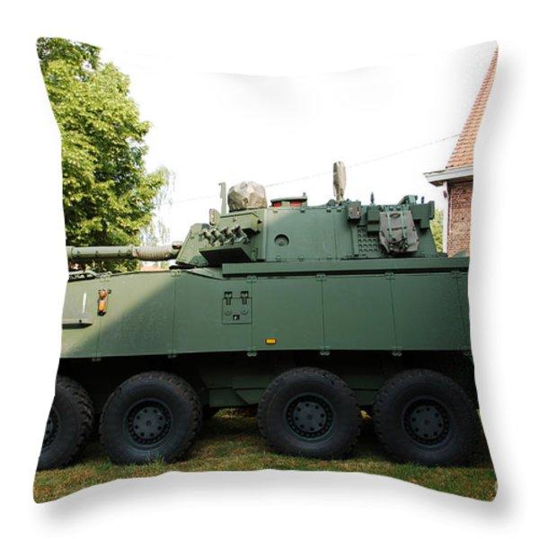 A Belgian Army Piranha Iiic Throw Pillow by Luc De Jaeger