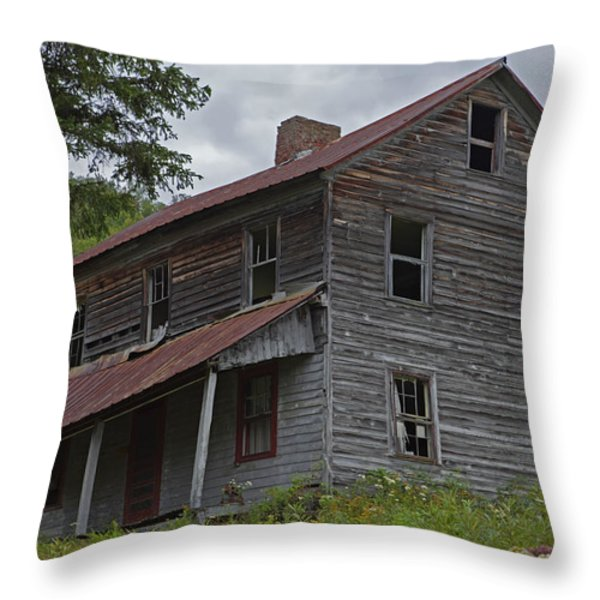 Abandoned Homestead Throw Pillow by John Stephens