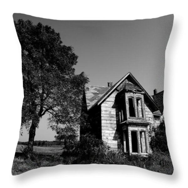 Abandoned House Throw Pillow by Cale Best