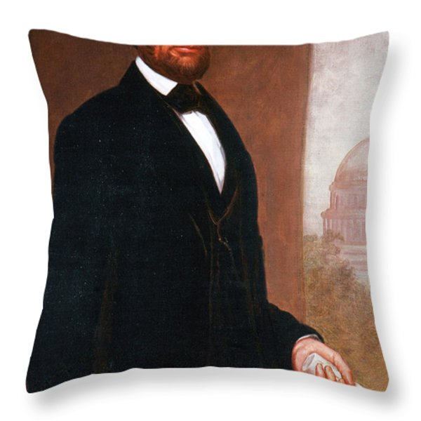 Abraham Lincoln, 16th American President Throw Pillow by Photo Researchers
