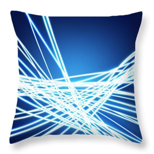 Abstract of weaving line Throw Pillow by Setsiri Silapasuwanchai