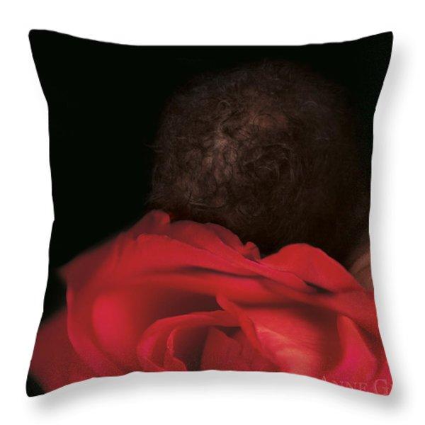 Amaya in Rose Throw Pillow by Anne Geddes