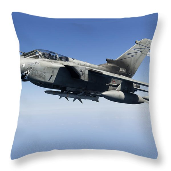 An Italian Air Force Tornado Ids Throw Pillow by Gert Kromhout