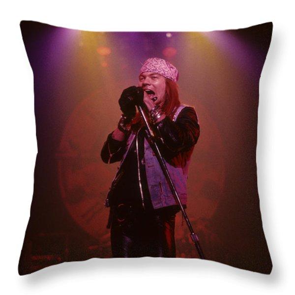 Axl Rose Throw Pillow by Rich Fuscia