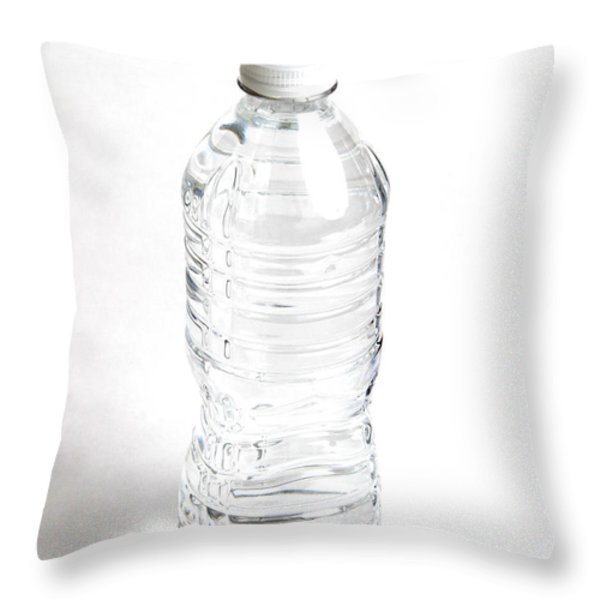 Bottled Water Throw Pillow by Photo Researchers