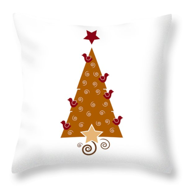 Christmas Tree Throw Pillow by Frank Tschakert