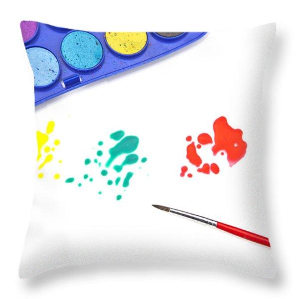 Color Splash Throw Pillow by Joana Kruse