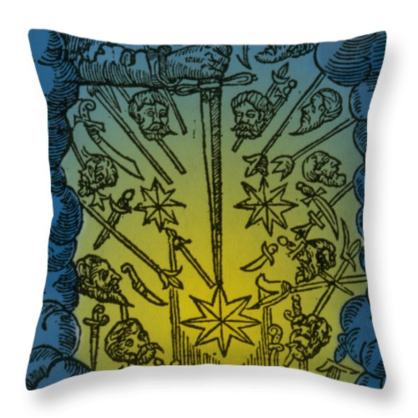 Comet, 1665 Throw Pillow by Science Source
