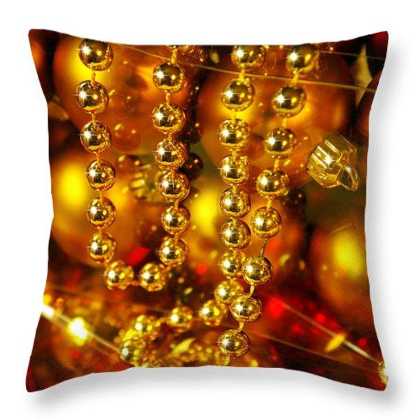 Crhistmas Decorations Throw Pillow by Carlos Caetano