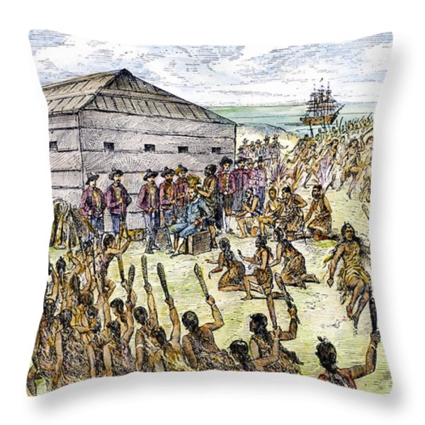 Francis Drake (1540?-1596) Throw Pillow by Granger